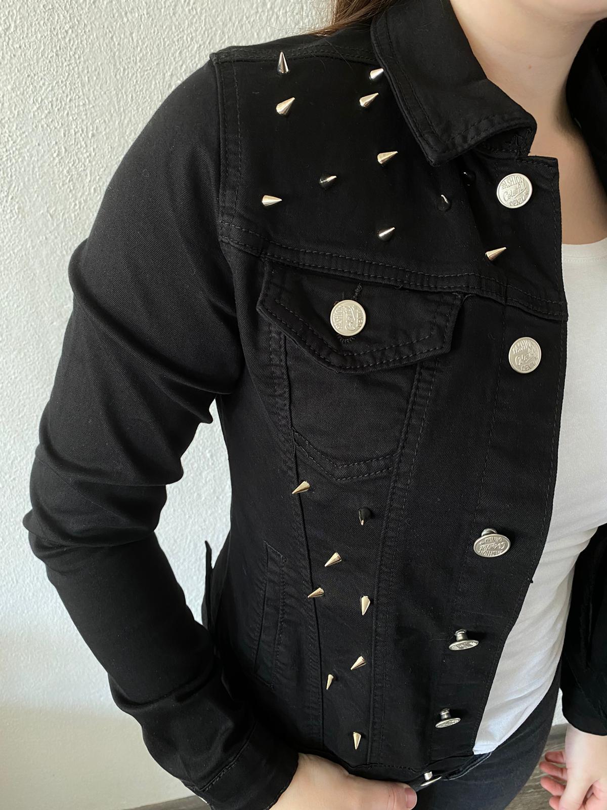 Spijkerjasje Zwart