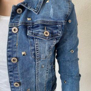 Blauw spijker jasje